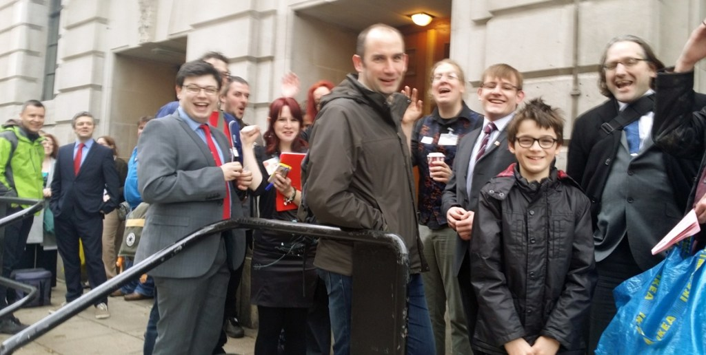 Queuing up for the game - From the Achives, Watch The Skies 2 Megagame Report by BeckyBecky Blogs