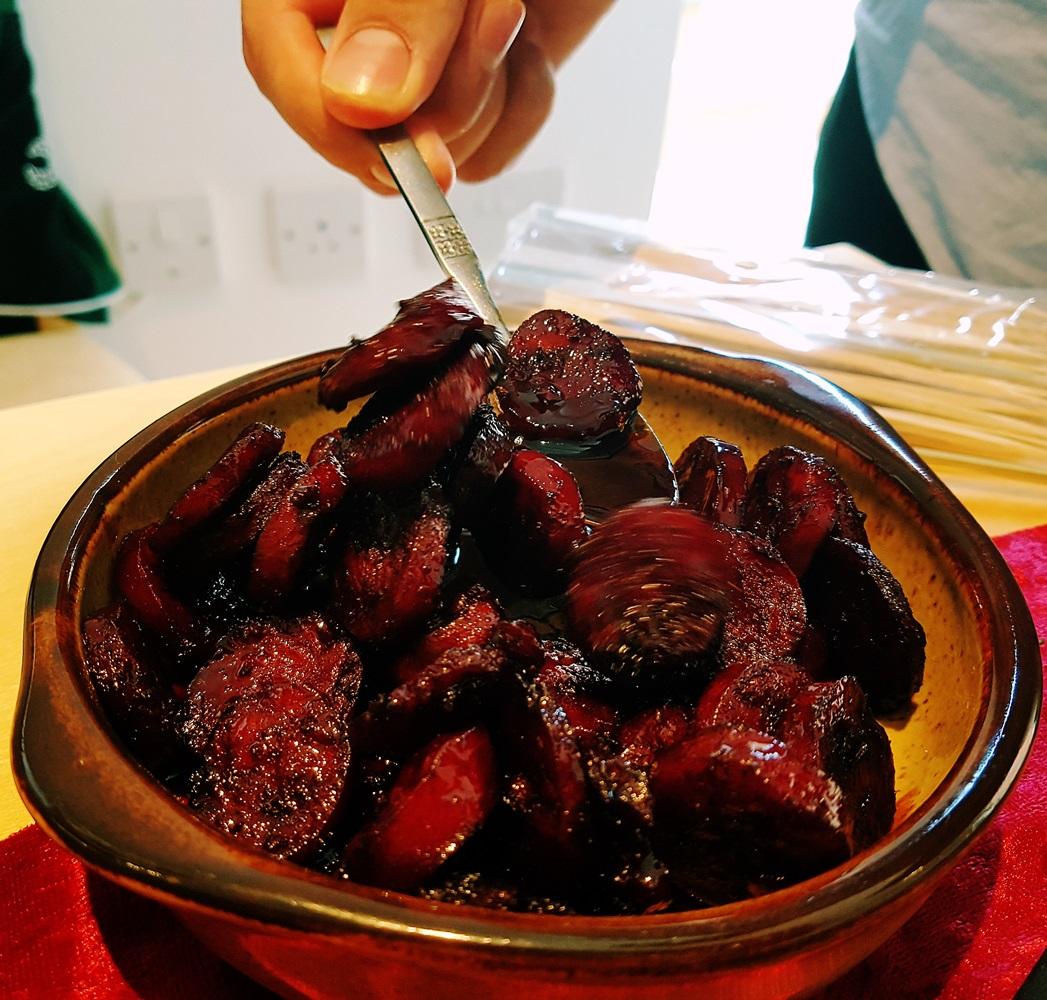 Chorizo al vino at our House Wimbledoning