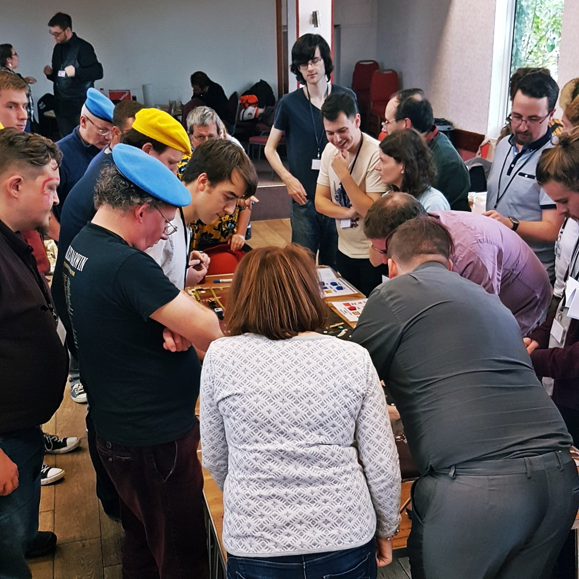 A busy map table - A World Divided megagame after action report by BeckyBecky Blogs
