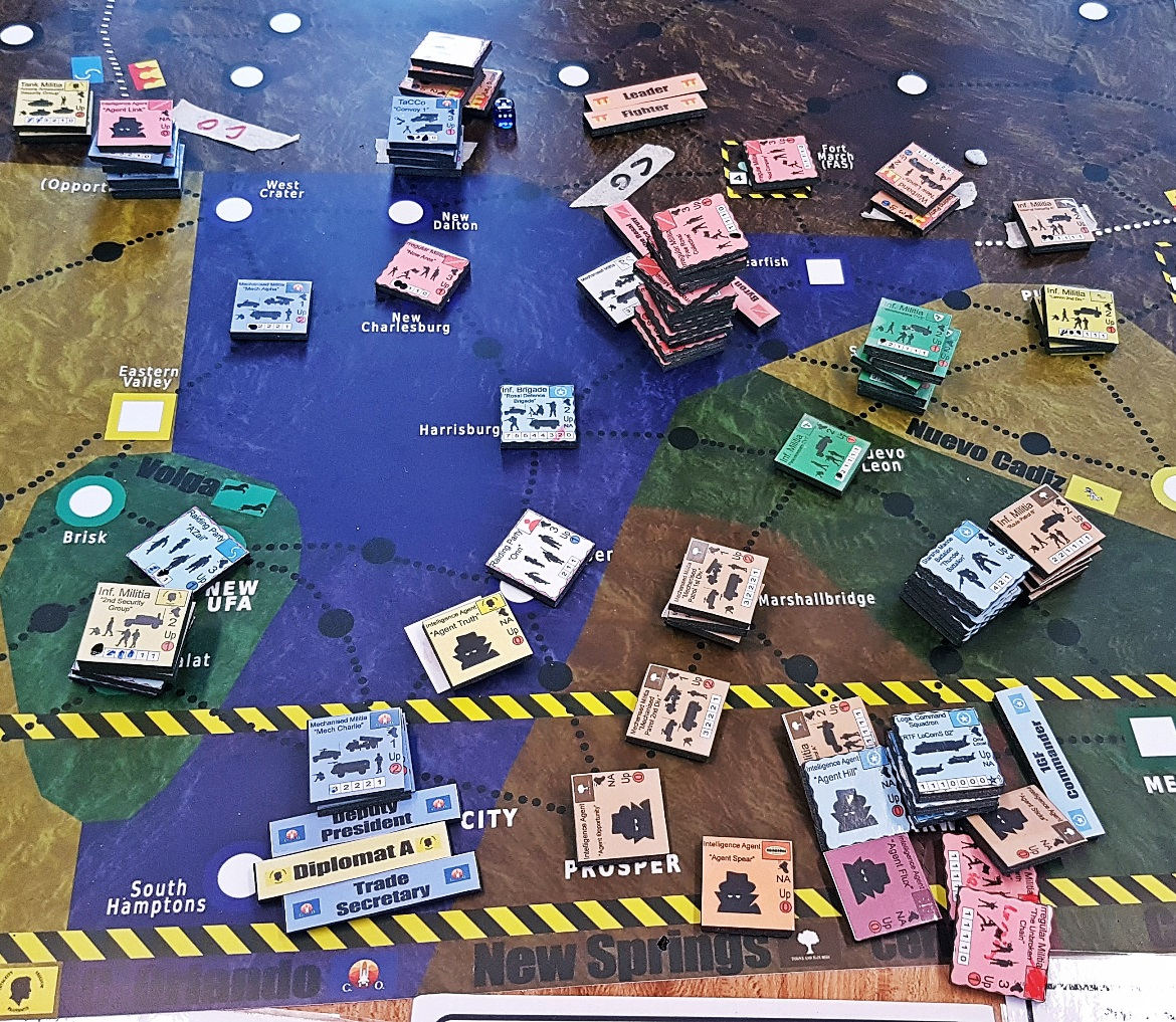 War elsewhere - A World Divided megagame after action report by BeckyBecky Blogs
