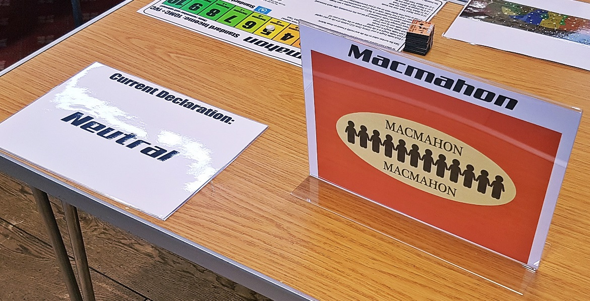 Macmahon staying neutral - A World Divided megagame after action report by BeckyBecky Blogs