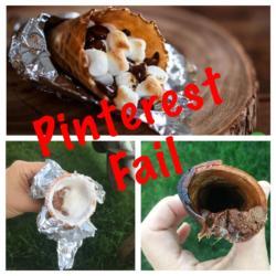 Pinterest Fail: Campfire S'mores Cones