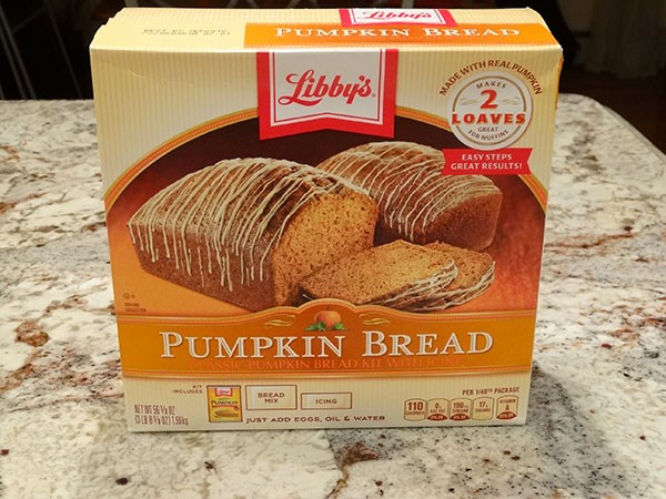 Libby's pumpkin bread kit