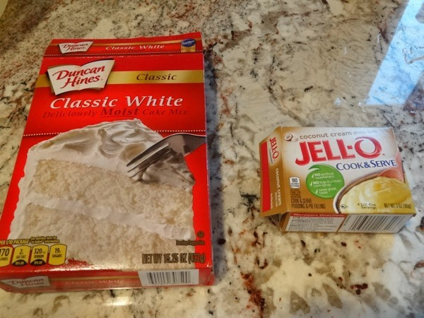 cake mix and jello mix for crust