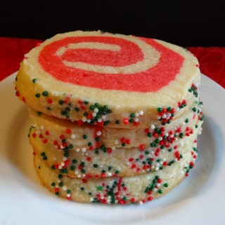 Christmas Pinwheel Sugar Cookies