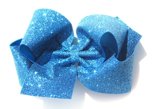 Girls Huge Large Boutique Glitter Custom Hair Bow