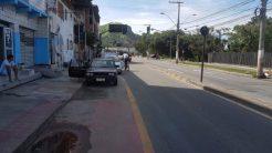 No final da ciclovia, em frente à Rodoviária de Vitória ela acaba (já na divisa com a cidade de Vila Velha). E os maus hábitos dos motoristas também.