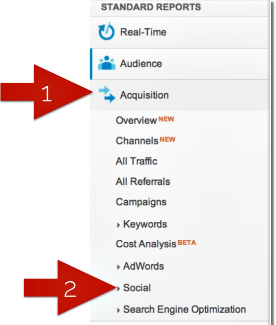 Find social referrals in Google Analytics