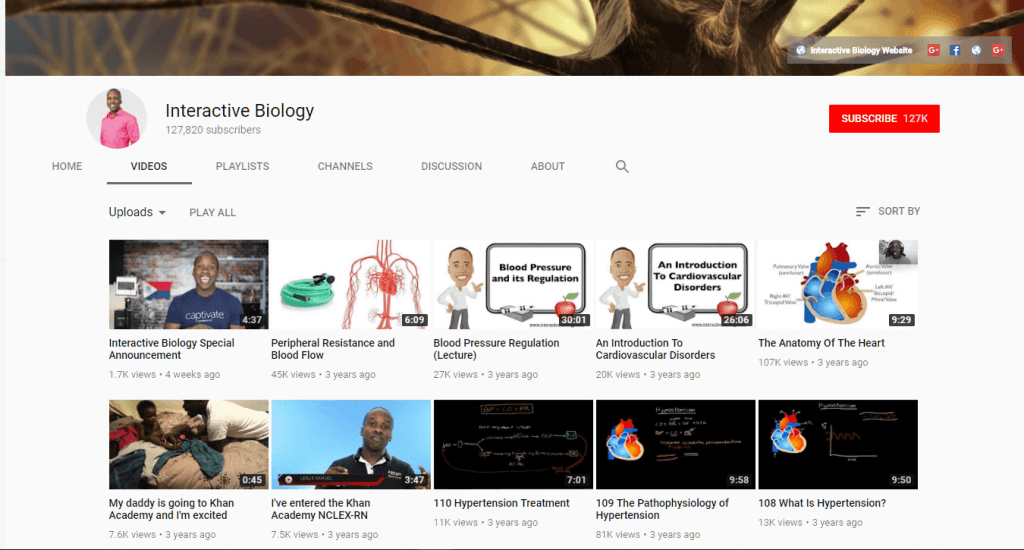 Interactive Biology YouTube Channel