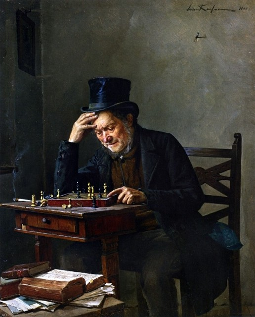 The Chess Player by Isidor Kaufmann