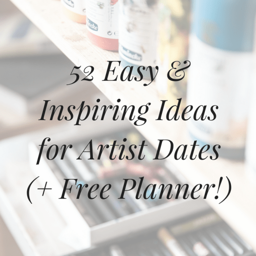 Looking for inspiration for your weekly artist dates? Click the image to get a year's worth of ideas, plus a free planner you can download & use to plan ahead.