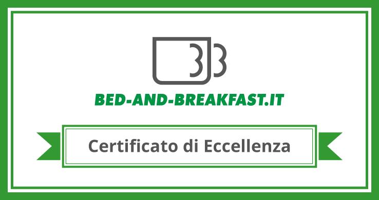 Certificato d'eccellenza Bed-and-breakfast.it