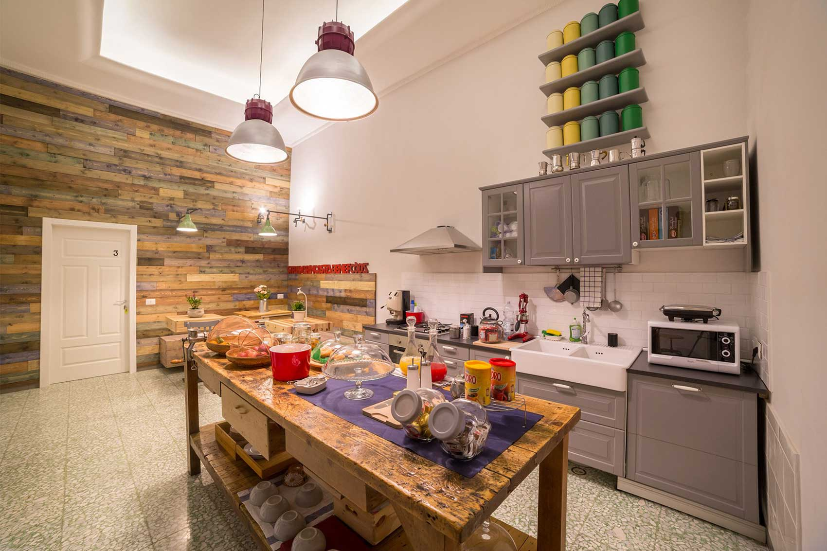 The Foria House Bed and Breakfast Napoli (cucina)