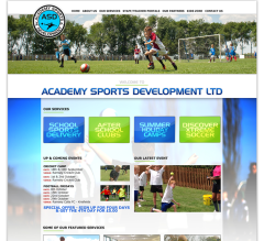 Academy Sports Development Website by Bedazzled Graphic Design