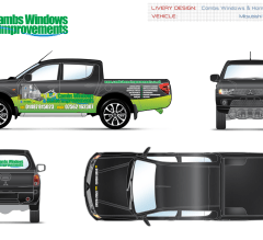 Cambs Windows & Home Improvements vehicle design