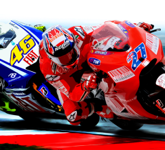 Motorcycle racer Illustration work for a magazine feature