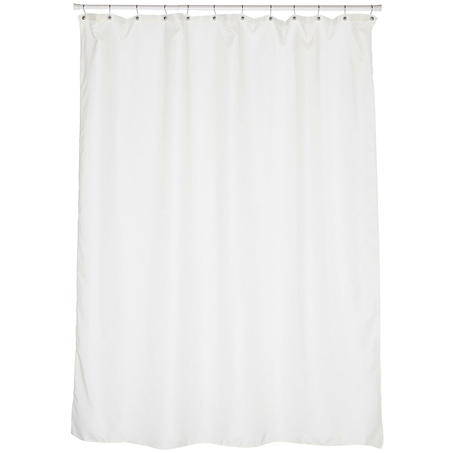 fabric extra long 84 ivory shower curtain liner