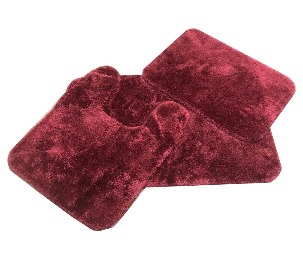 Royale MERLOT Burgundy Bath Rug Ensemble