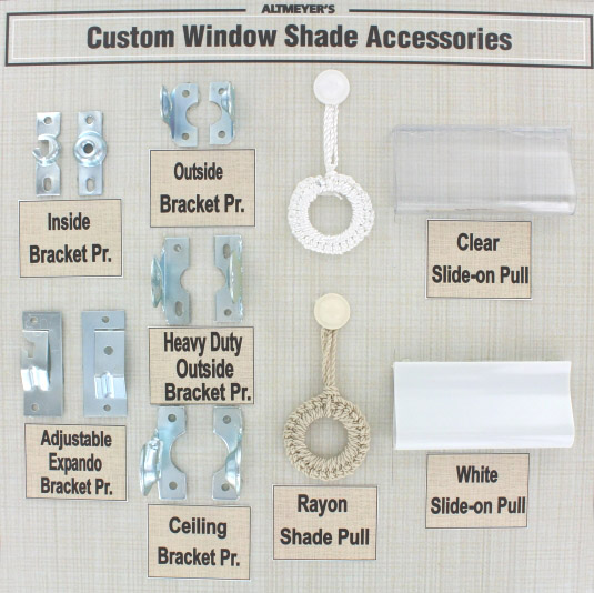 Window Shade Mounting Brackets And Accessories