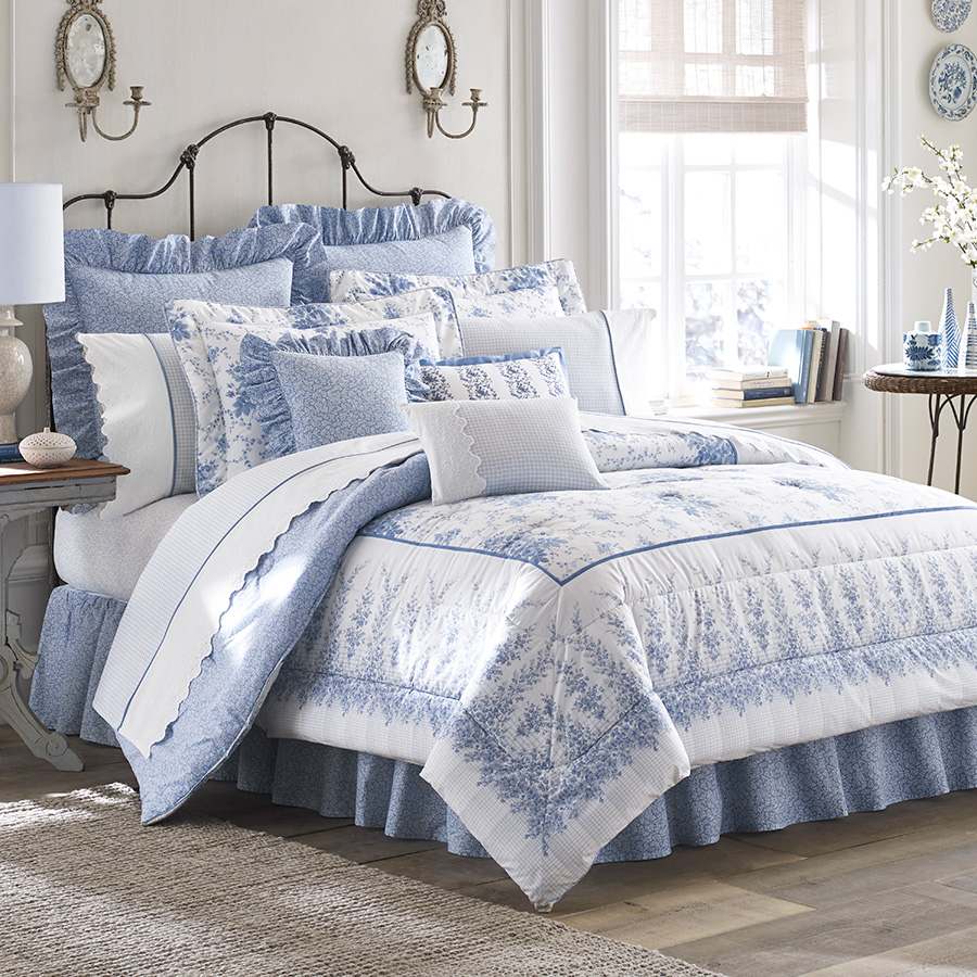 King Comforter Set (Laura Ashley Sophia)