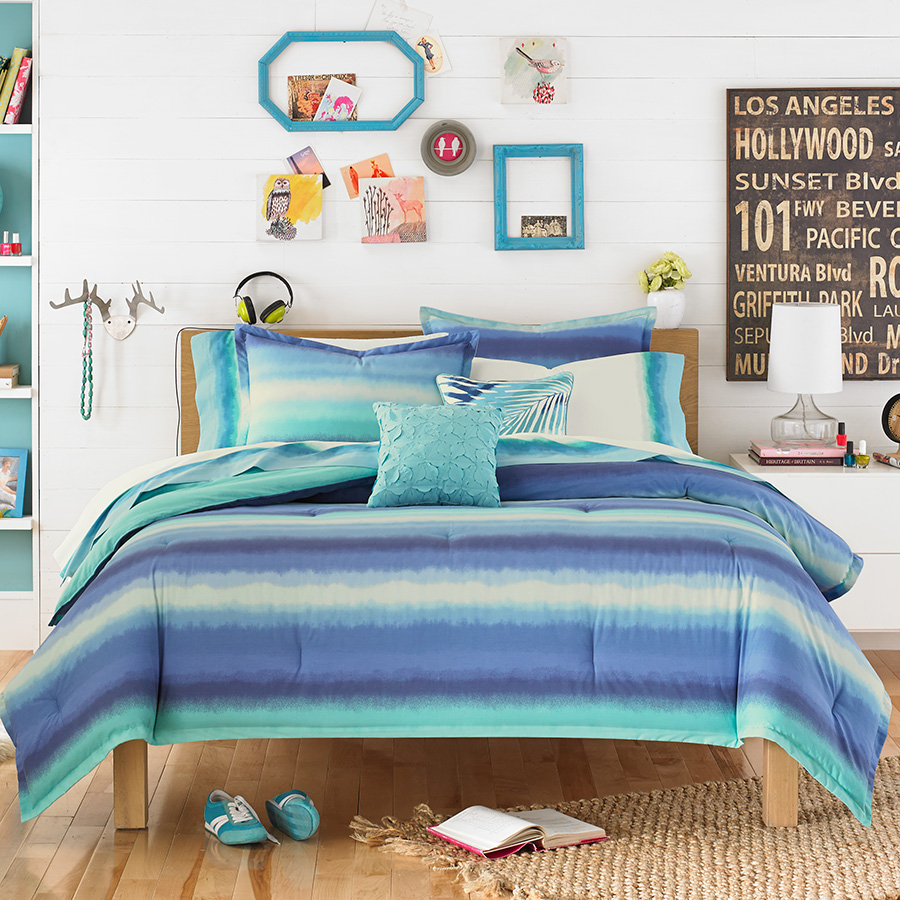 Teen Vogue Electric Beach Blue Comforter Set from ... on Teenager:_L_Breseofm= Bedroom Ideas  id=47884