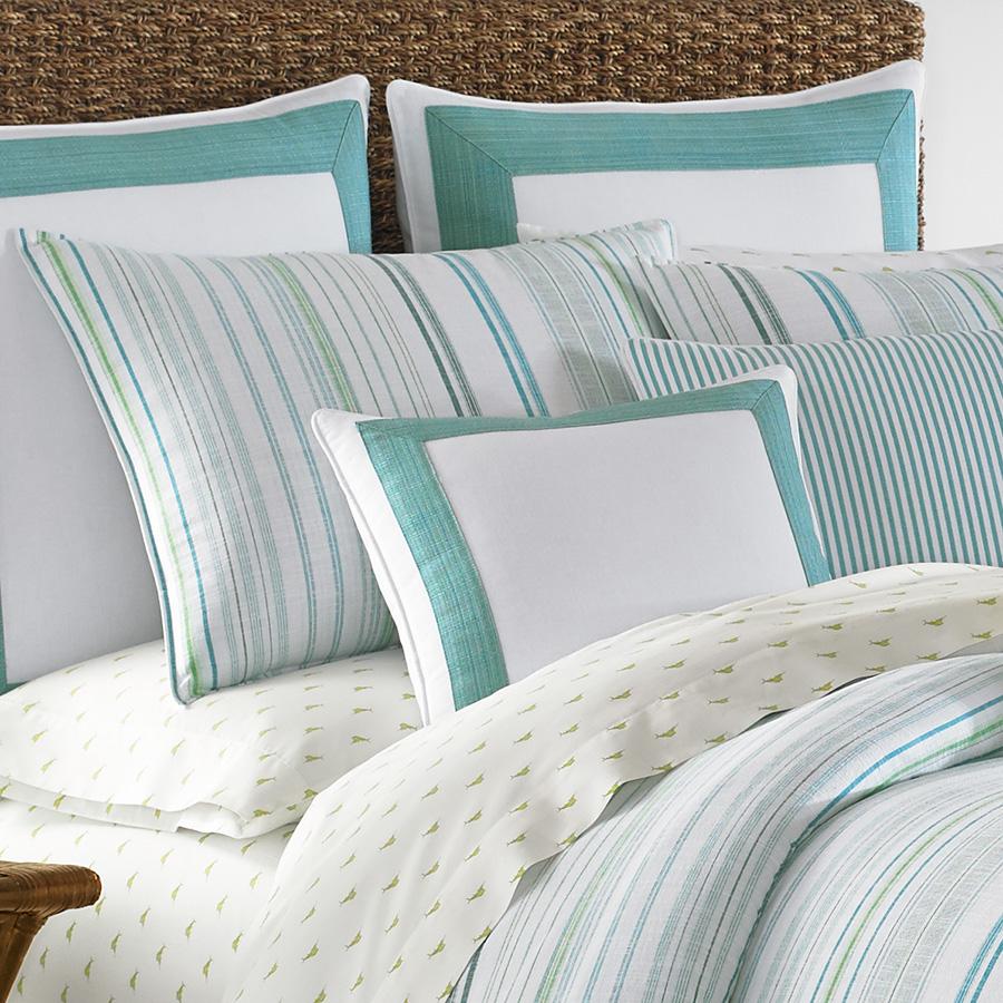 Tommy Bahama La Scala Breezer Seaglass Comforter And Duvet