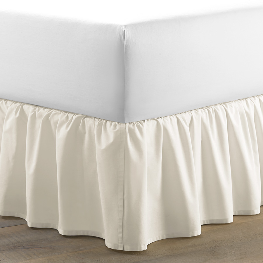 Laura Ashley Ruffle Ivory Cotton Bedskirt From
