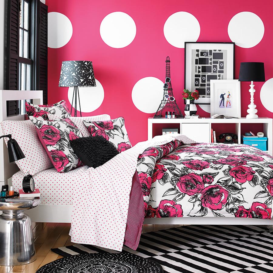 Teen Vogue Sketched Roses Comforter Set from Beddingstyle.com on Teenager:_L_Breseofm= Bedroom Ideas  id=54584