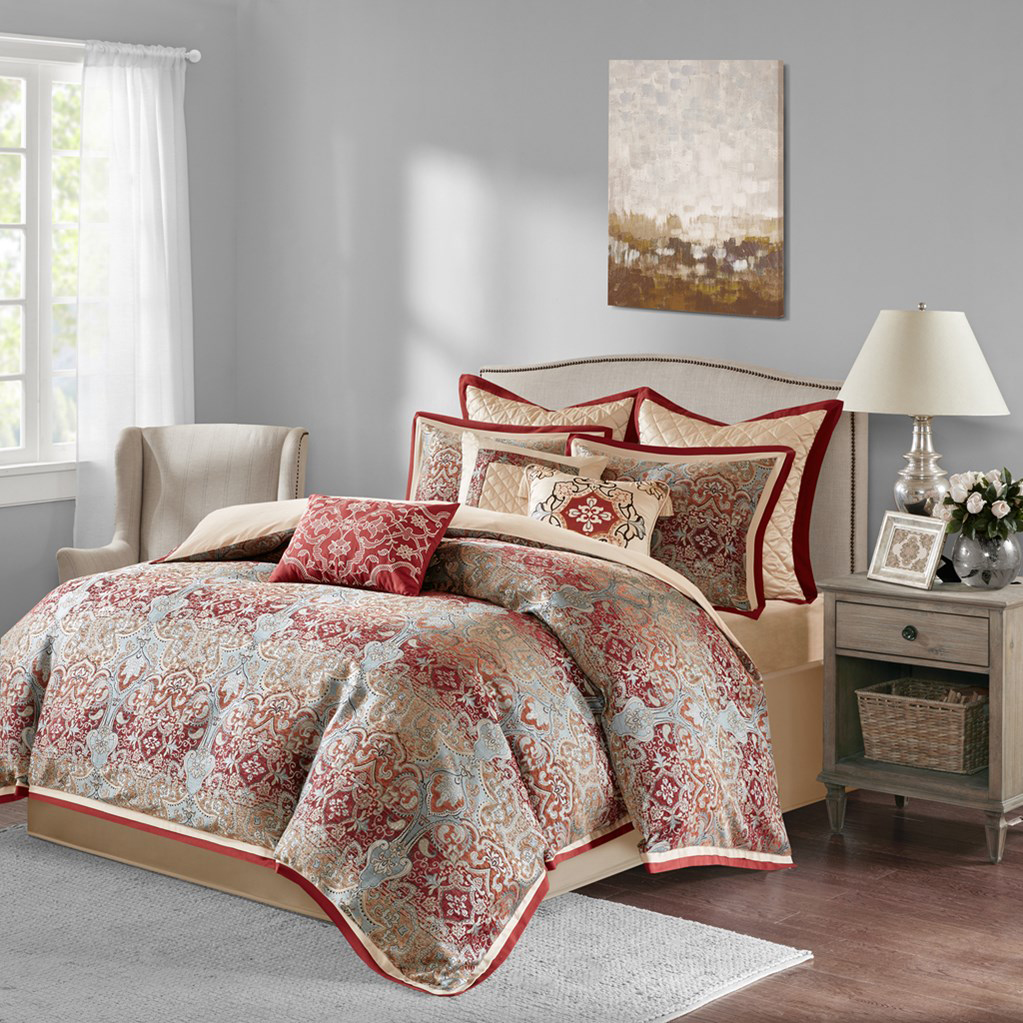 Norton Red By Bombay Bedding