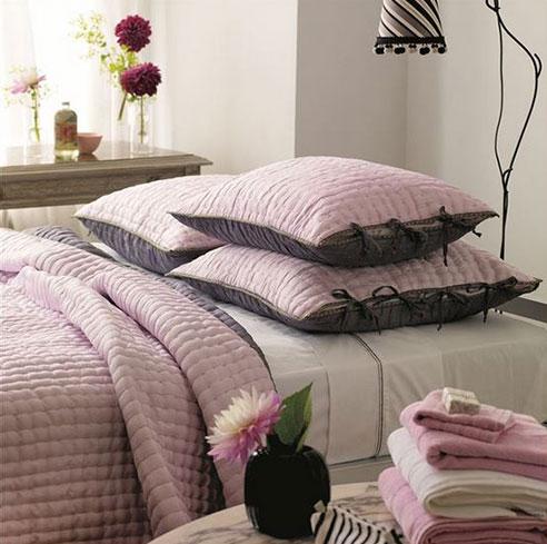 Chenevard Reversible Quilt Rose Amp Slate By Designers Guild