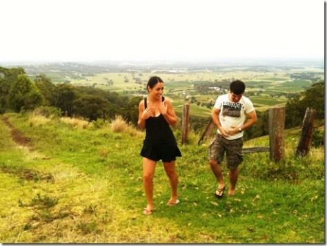 Sanna and me enjoying the countryside