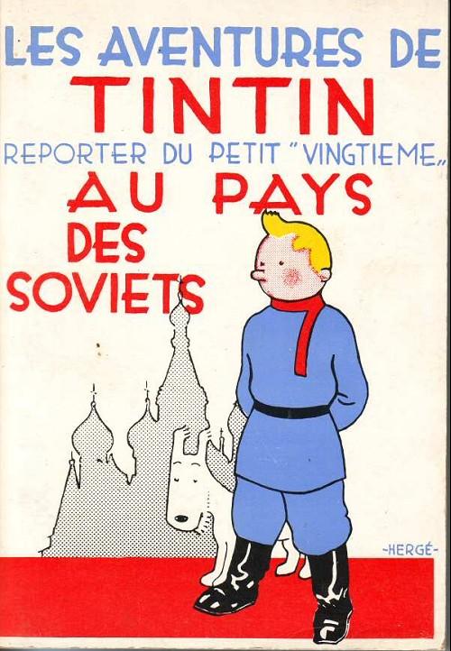 """Résultat de recherche d'images pour """"tintin au pays des soviets couverture"""""""