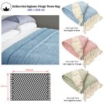 Details About 100 Cotton Herringbone Extra Large Sofa Bed Throw Rug Blanket 160 X 210 10 Cm