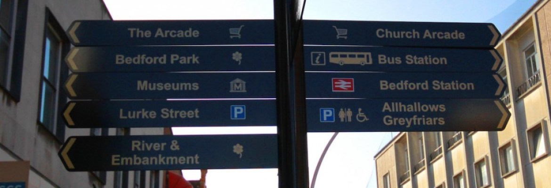 Bedford Signpost