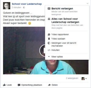 FB post opslaan interessant