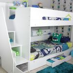 Flair Furnishings Slick Staircase Bunk Bed White