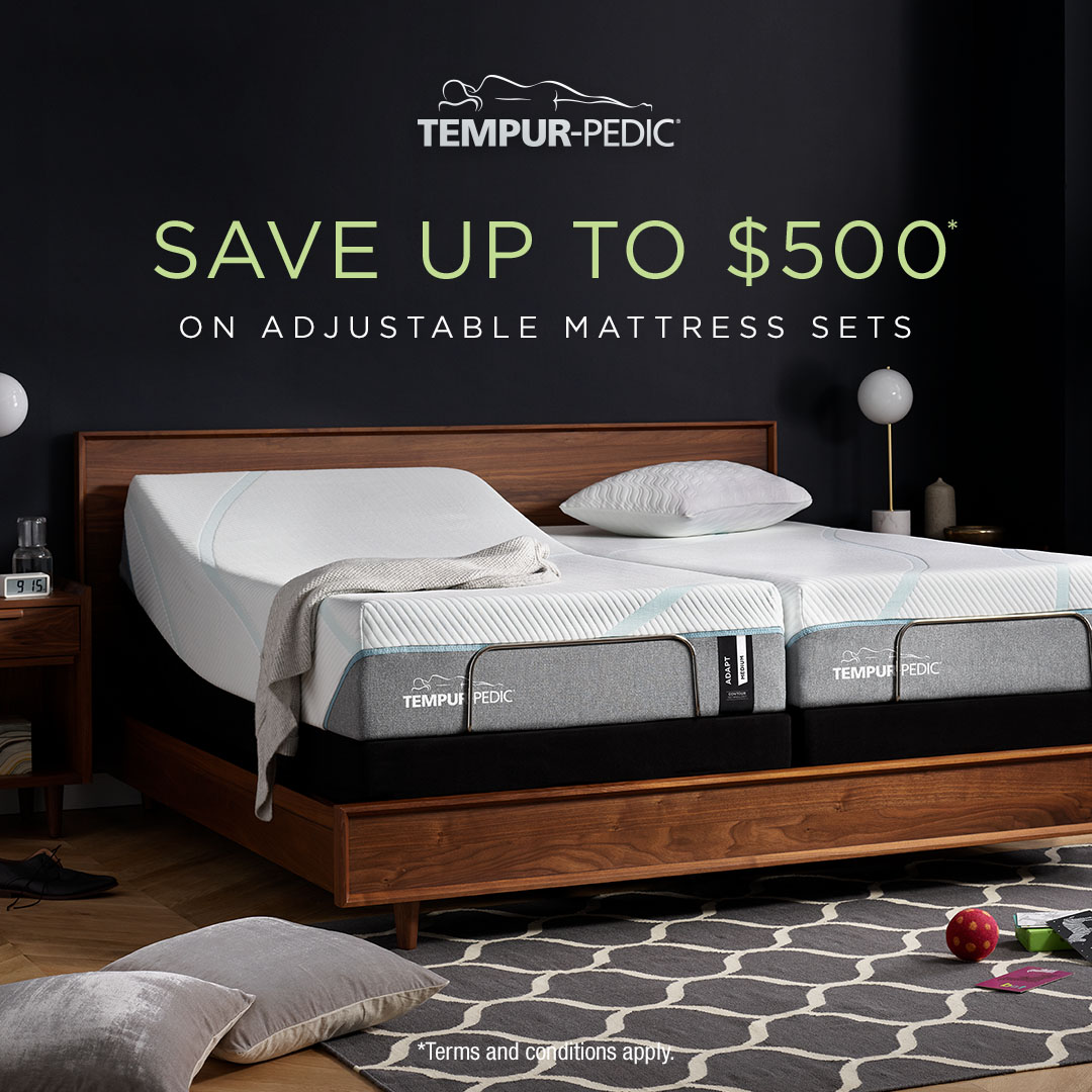 Save up to $500 on Adjustable Mattress Sets