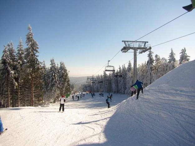 lekker skiën met collega`s