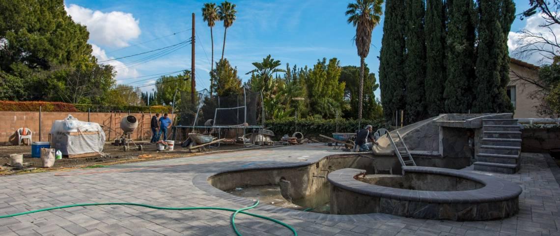 Backyard contractors-New pool-Pavers-Northridge ... on Backyard Renovation Companies id=64686