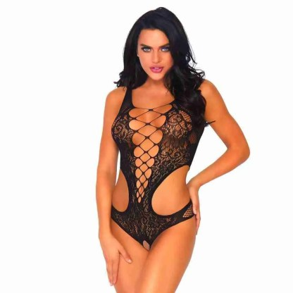 Leg Avenue Seamless Teddy With Bare Bottom One Size UK 8 to 14 Front