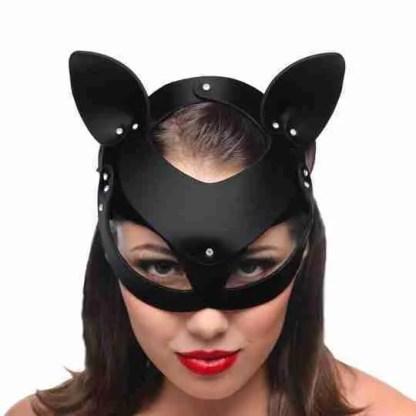 Master Series Bad Kitten Leather Cat Mask 1