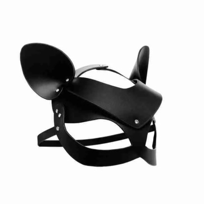 Master Series Bad Kitten Leather Cat Mask 2