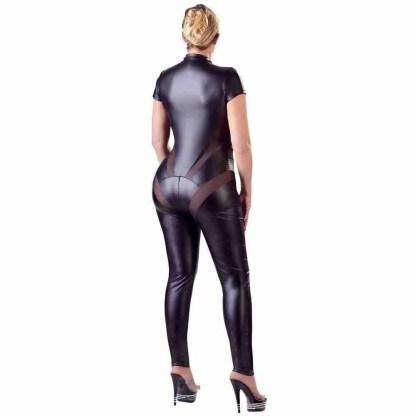 Cottelli Plus Size Jumpsuit with Net 2