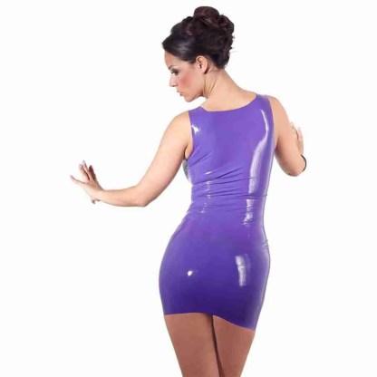 Latex Mini Dress Purple 2