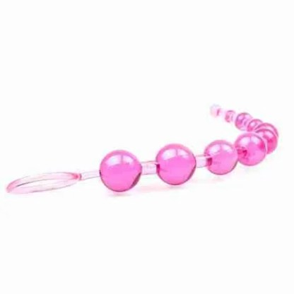 Pink Chain Of 10 Anal Beads 2