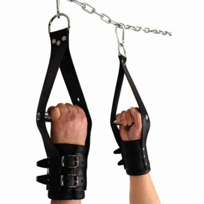 Deluxe Leather Suspension Handcuffs 1