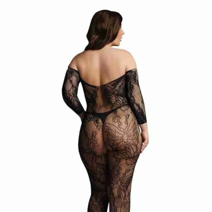 Le Desir Lace Sleeved Bodystocking UK 14 to 20 2