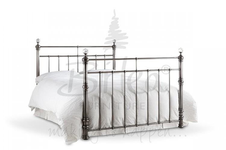 Birlea Georgina 5ft King Size Brushed Nickel Metal Bed