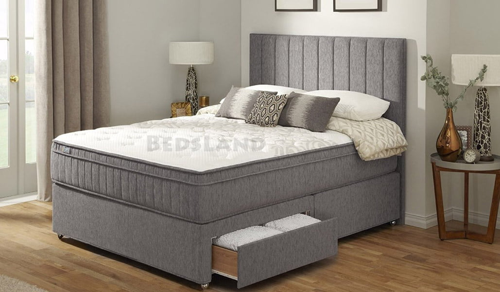 King Size Bed With Storage And Headboard Free Delivery