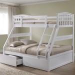 Artisan White Three Sleeper Bunk Bed Bedstar Co Uk